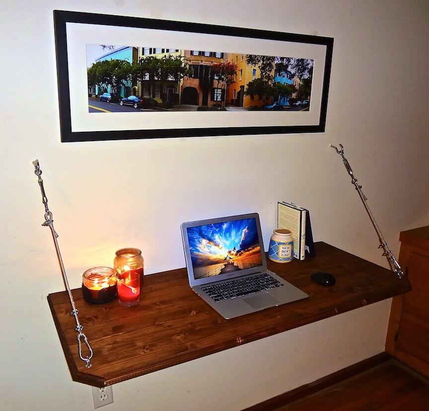 floating desk wall mounted desk by formollydesks on etsy. Black Bedroom Furniture Sets. Home Design Ideas