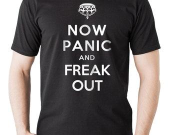 Halloween T-Shirt Now Panic And Freak OUT Halloween Costume Tee Shirt