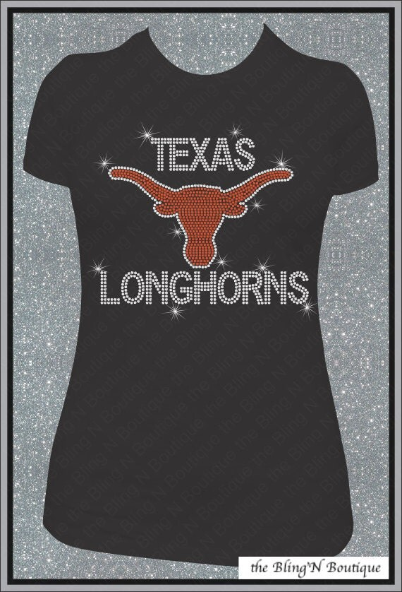texas longhorns bling rhinestone shirt by allstarcustombling