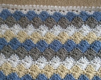 Free Crochet Harlequin Blanket Pattern : Catherine wheel Etsy