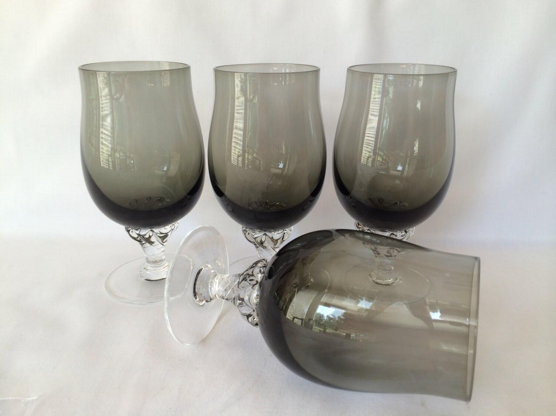 Grey wine glasses sasaki crystal coronation glasses short - Short stemmed wine glass ...