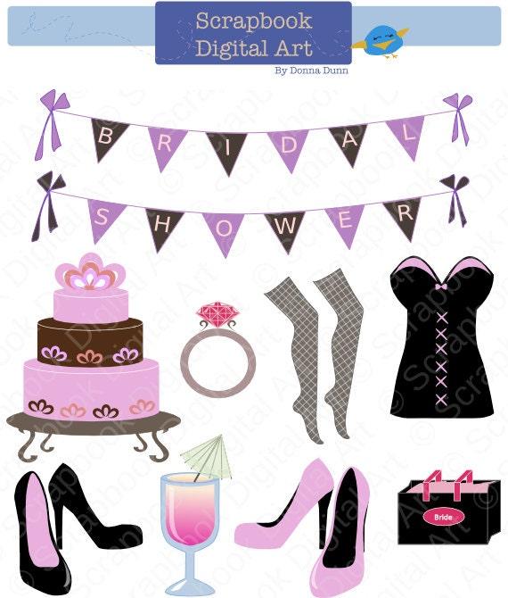 Bridal Shower Clip Art Bachelorette Party Despedida De Soltera Brude Dusj Decoraciones Para Novia