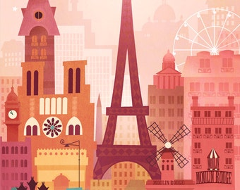 Paris by Amber Leaders 5x7 or 11x14 art print
