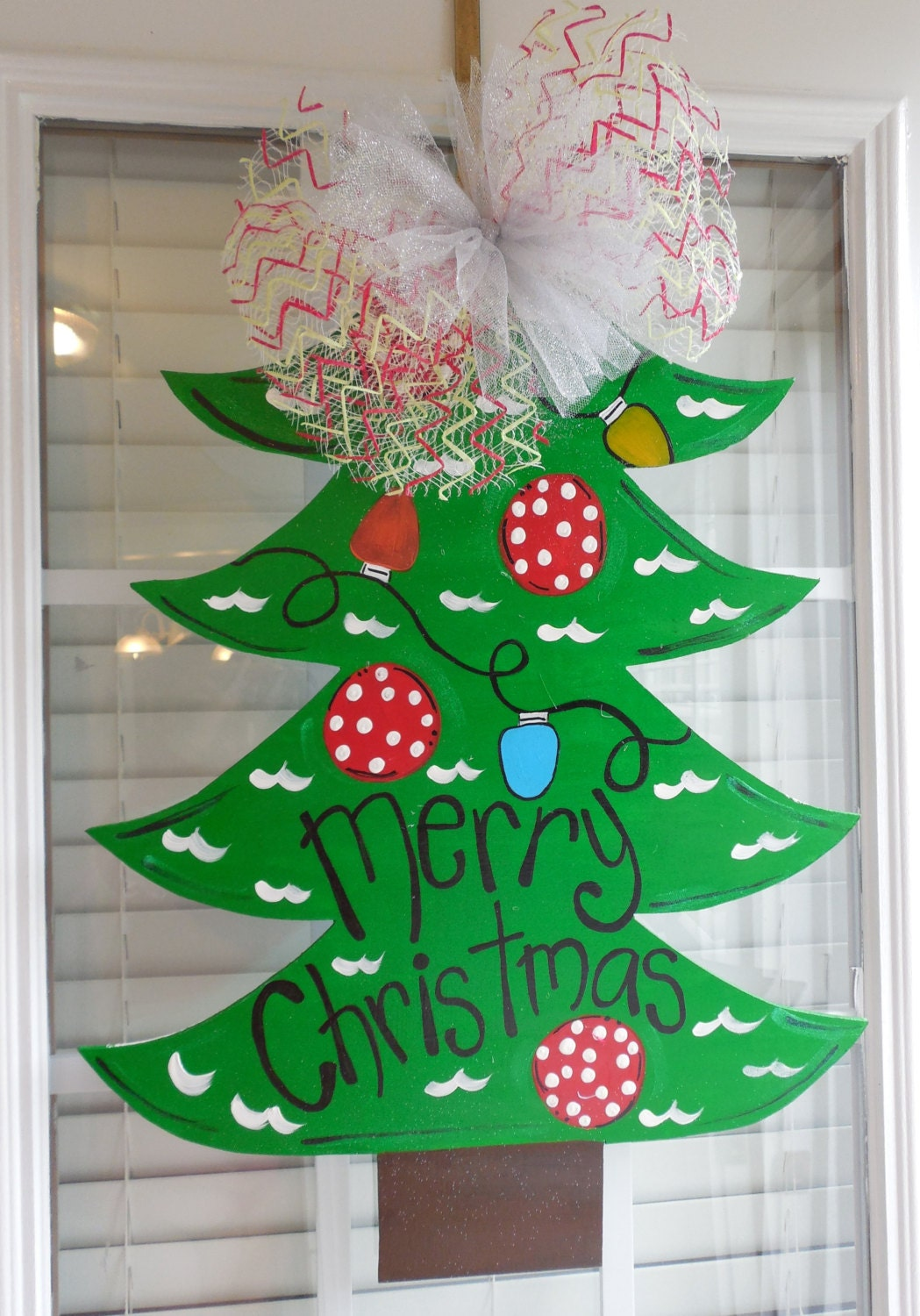 Christmas Tree Door Hanger Christmas Decor By