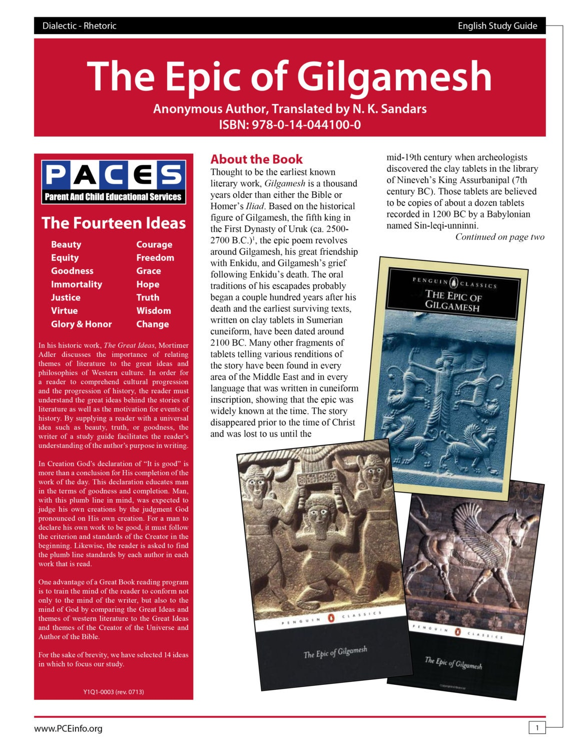 study of the epic of gilgamesh Sparknotes - gilgamesh - download as pdf file (pdf), text file (txt) or read online.