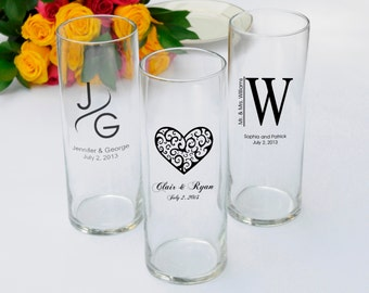Personalized Wedding Favor - Monogram Vase Favors - Wedding Vase Set (351 6pcs)