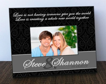 Personalized Picture Frame - Personalized Couples Picture Frame - Couple Picture Frame