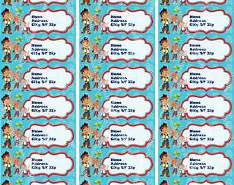 Jake and the Never Land Pirates Address Labels