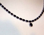 21.79 ct  18 inch Black Spinel necklace