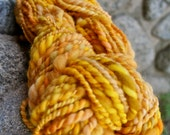 Bright Sunny Yellow Had Spun Wool Yarn