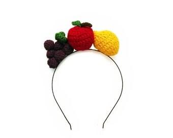 FRUIT headband with Crochet fruit *HAND MADE*