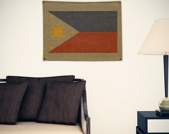 Philippines Burlap Flag (w/ Free Shipping!)