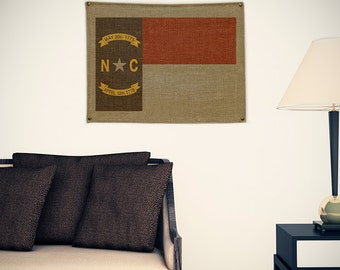 North Carolina Burlap Flag (w/ Free Shipping!)