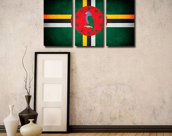 Dominica Flag Triptych