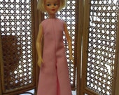 Vintage Tammy Doll Clothes 12 Inch Doll Clothes Pink Doll Jumpsuit Doll Cloths Doll Clothing  Fits Ideal's Tammy  & Tuesday Taylor Dolls