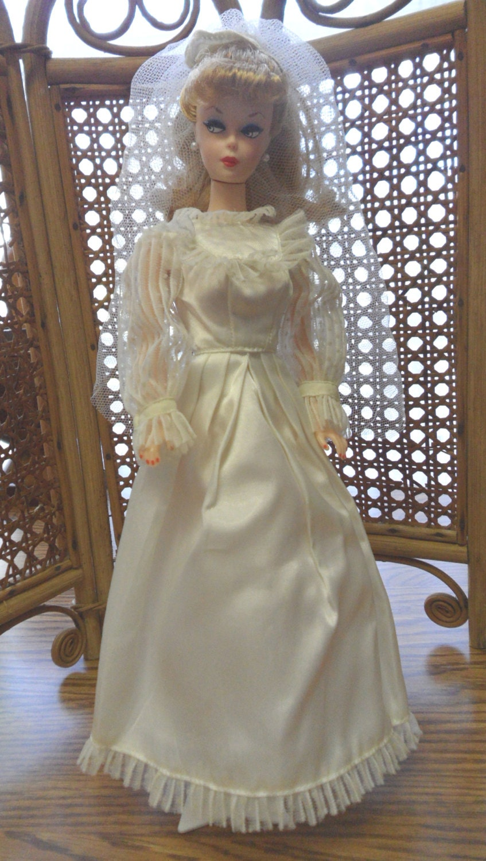 Vintage Barbie Wedding Dress Veil 11 5 Fashion Doll