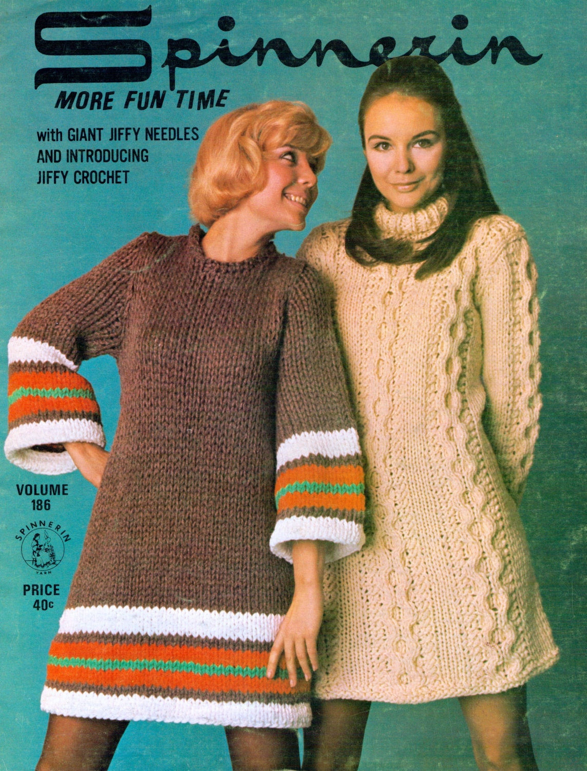 2 Dresses Vintage Knitting Patterns Retro women's