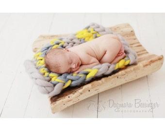 Big Bump Blanket Newborn Baby Prop Merino Wool