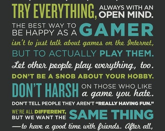 Play Everything 11x17 Print