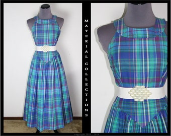 Vintage SABINO Plaid Sundress • M/M • Material Collections