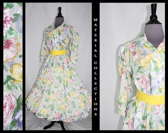 """70s does 50s """"Stuart Barry"""" Swing Dress by Vintage Material Collections"""