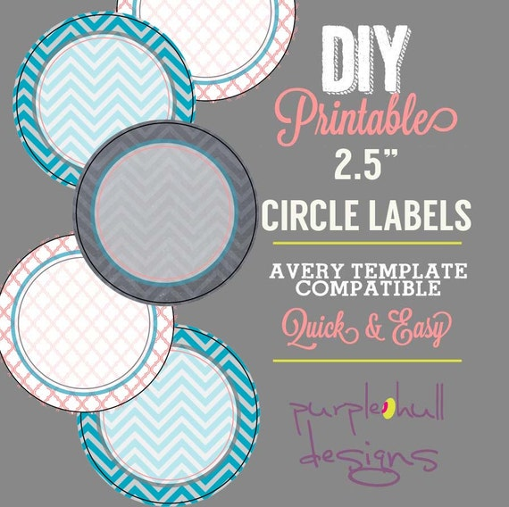 Circle label sticker avery template 2 5 inch round chevron for Avery 2 round label template