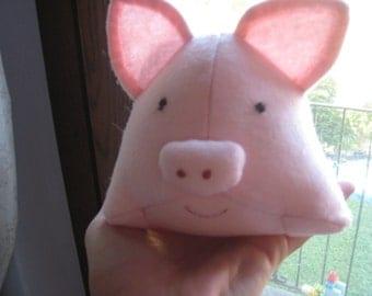 PINK PIG lenci cloth handmade-snowman
