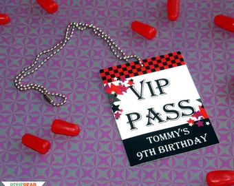 Rock Star Birthday VIP Passes - Rockstar Party VIP Pass - Rock Star VIP Pass - Kids Rock Star Party - Rockstar Birthday (Instant Download)