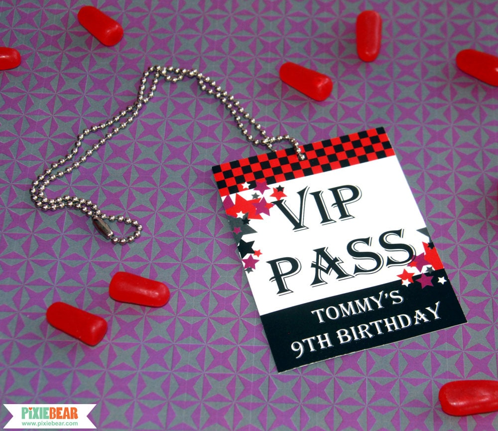 Vip Pass Rock Star Birth...