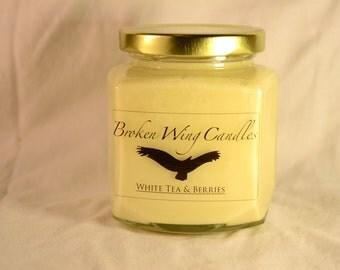 White Tea & Berries Soy Wax Candle, 8 oz.