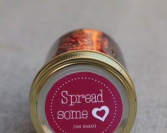Mason jar label for jam - 2.5 inch diameter | Canning jar label