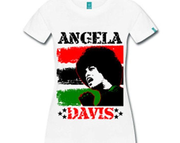 Angela Davis Revolutionary Women's Fitted T-Shirt - White