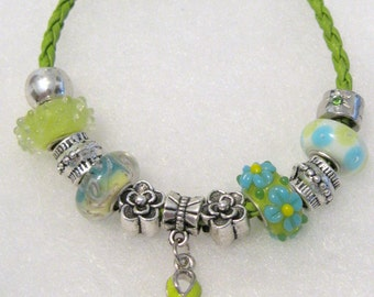 201 - CLEARANCE - Lime Cancer Awareness Bracelet