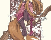 Spice and Wolf Holo Art Nouveau 18 x 24 inch Print