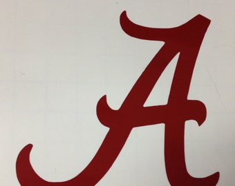 Alabama A Decal - 2 inches tall