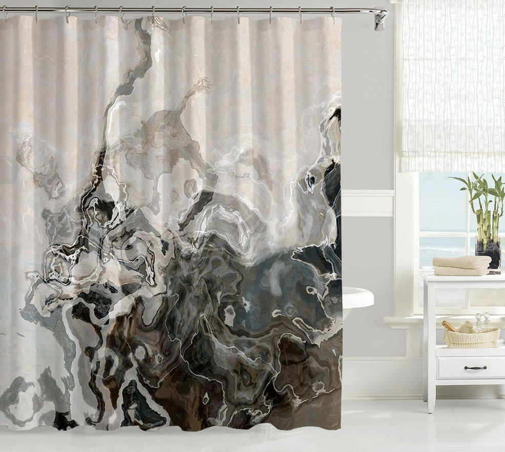 abstract art shower curtain contemporary bathroom decor. Black Bedroom Furniture Sets. Home Design Ideas