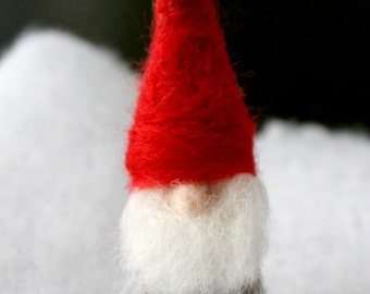 Waldorf Gnome, Nisse Man, Felted Gnome,tomte, Christmas ornament