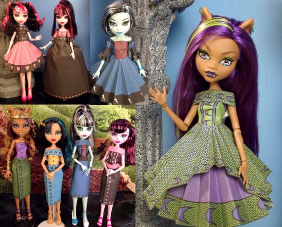 Diana Printable Doll Clothes Makes Great Monster High