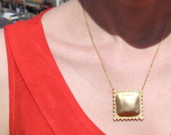 Ravioli Necklace- 18k gold plated