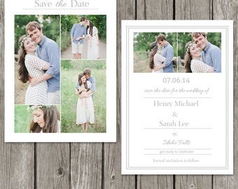 Save The Date Template Card - Wedding Save The Date Photo Invitation for Photographers - SD03