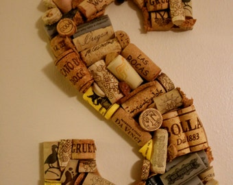 Wine Cork Initial - Personalized
