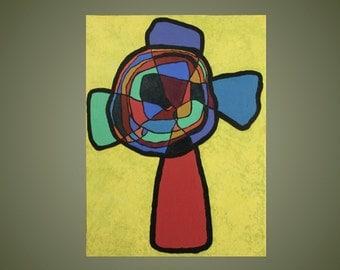 Original Painting: Mosaic Cross