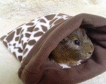 Custom made small animal cozy snuggle sack fleece cuddle bag pouch - 3 sizes - guinea pig - rat - ferret - hedgehog -  MADE TO ORDER