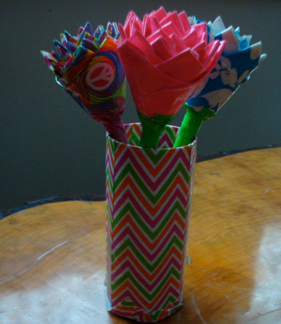 Items similar to rose duct tape flower pen on etsy