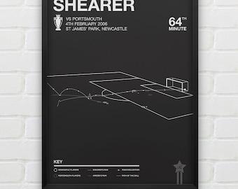 Alan Shearer - Newcastle vs Portsmouth Giclee Print -- [48]