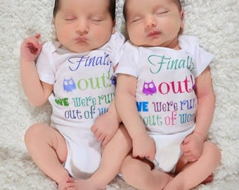 Newborn Twin Girls Take Home Outfit Wombmates Newborn Twins