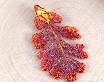 Oak Leaf Pendant, Copper Oak Leaf Pendant, Copper Oak  Leaf, Leaf Pendant, Nature Pendant, PC1201