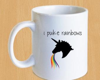 I Puke Rainbows - Unicorn Mug