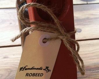 Wooden Bottle Opener - Red