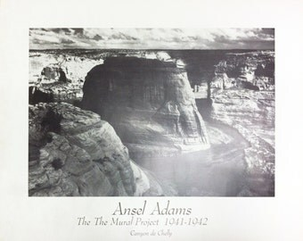 Canyon de chelly etsy for Ansel adams the mural project posters